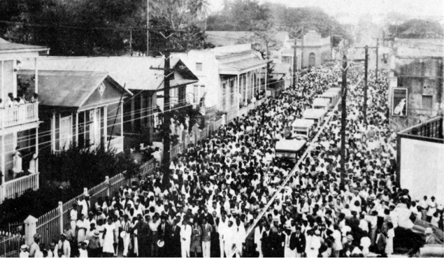 Funeral procession for victims of the Ponce Massacre
