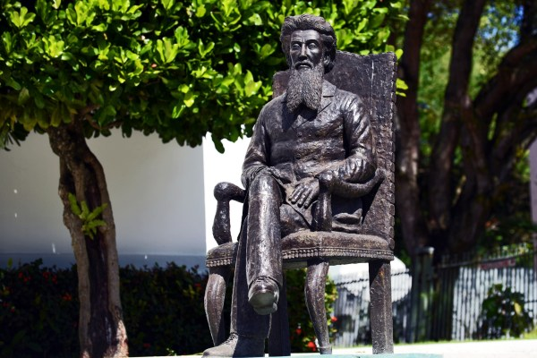Statue of Ramón Emeterio Betances by the Dominican sculptor José Cadaveda at the Ateneo Puertorriqueño (Credit: Harvey Barrison)