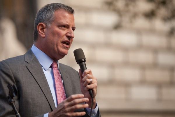 Candidate Bill de Blasio during his 2013 campaign (Credit: Kevin Case/Flickr)