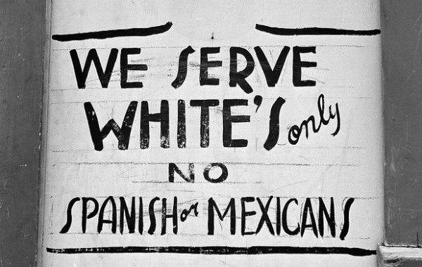 A sign in Jim Crow Texas, 1949 (University of Texas)