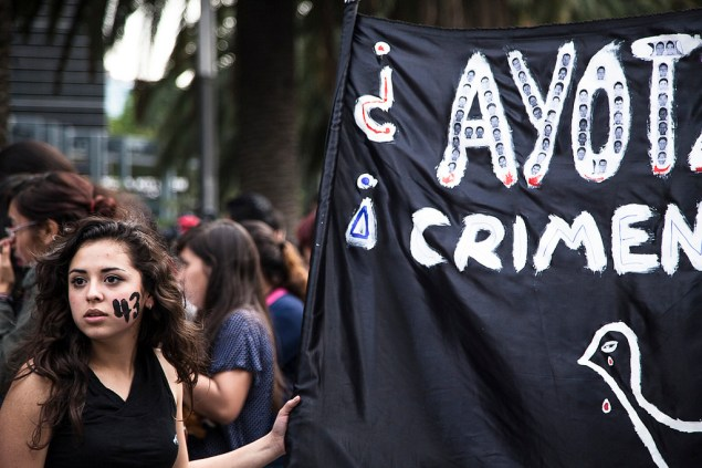 A protest in Mexico City for the 43 missing students, December 2014 (Somos El Medio/Flickr)