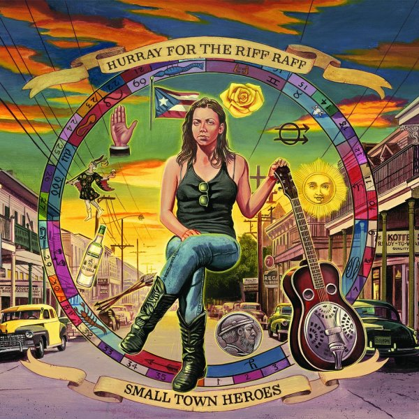 The cover art for 'Small Town Heroes' by Hurray for the Riff Raff