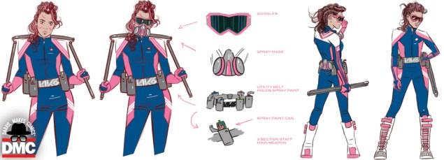 Leticia Lebron aka LAK6, the latest superhero from Darryl Makes Comics