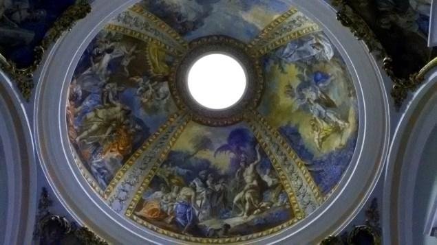 Ceiling of the Iglesia de Santa María in the autonomous community of Navarre in northern Spain