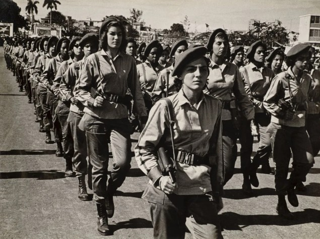Female soldiers marching in Cuba, May 1960 (Alberto Korda)