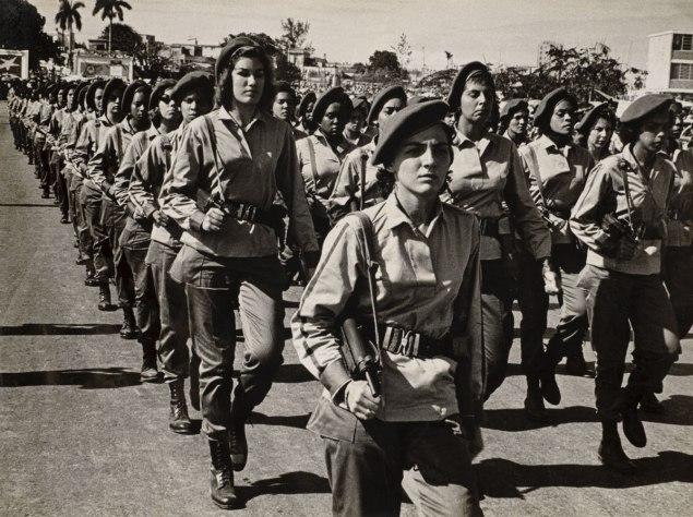 Female soldiers marching in Cuba, May 1960 (Alberto Korda)