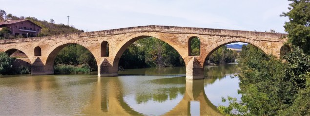 Puente La Reina in Navarra, Spain