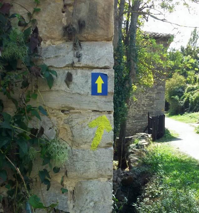 Yellow signs near Pamplona, Navarra