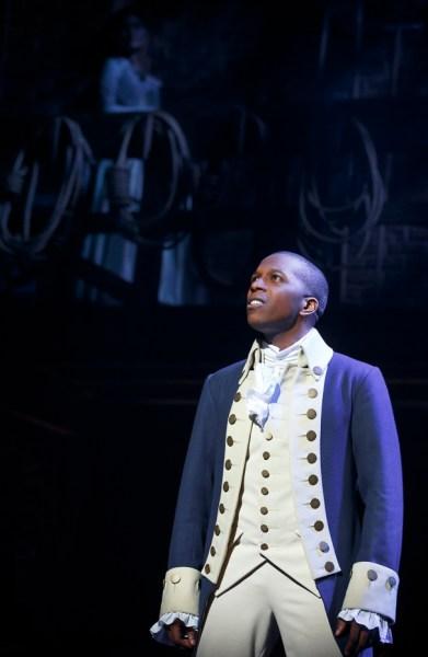 Leslie Odom Jr. as Aaron Burr in Hamilton