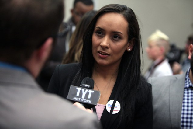 Erika Andiola, national Latino press secretary for the Bernie Sanders campaign (Gage Skidmore/Flickr)