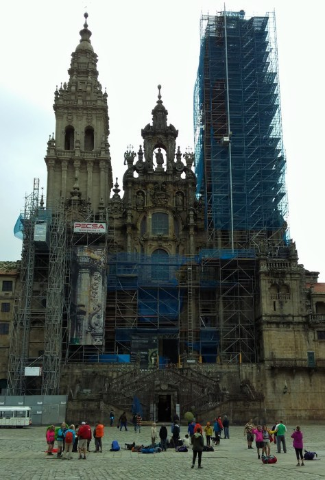 The cathedral, currently under restoration