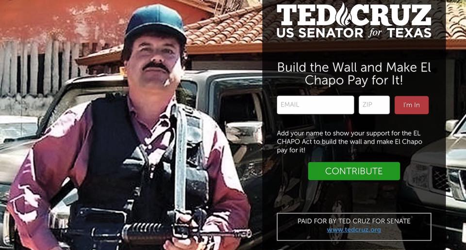 Read Ted Cruz's EL CHAPO ACT, and No, This Bill Is Not a Joke (But It Could Be)