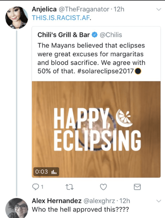 Chili's Grill & Bar Gets the #NoMames for Mixing Mayans With the Solar Eclipse and Margaritas