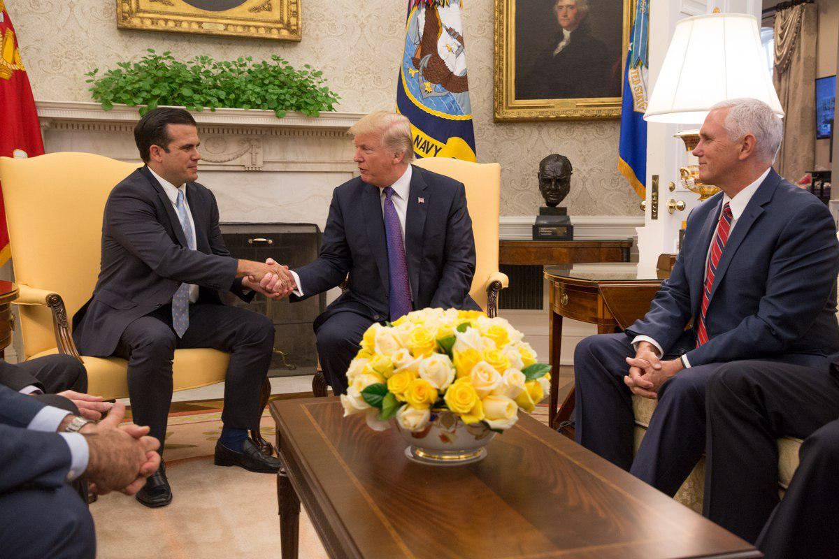 What Donald Trump and Ricardo Rosselló Said Today About Puerto Rico