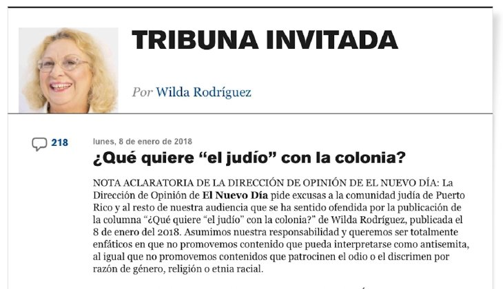 Dear Wilda Rodríguez: We Jews Do Not Control the United States or the World (OPINION)