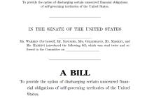 Warren, Sanders, Velázquez, Harris, Gillibrand and Markey Submit Bill to Cancel Debt for US Territories