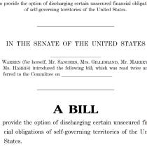 Warren, Sanders, Velázquez, Harris, Gillibrand and Markey Submit Bill to Cancel Debt for US Territories