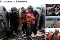 Some Powerful Social Media Images of Friday's Migrant Caravan Being Attacked by Mexico