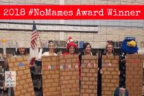 Idaho Teachers Dressed as Border Wall Win the 2018 #NoMames Award