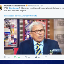 Tom Brokaw on Meet the Press: 'I Also Happen to Believe That the Hispanics Should Work Harder at Assimilation'