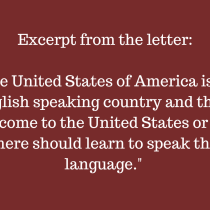 Apartment Complex in North Houston, TX Sends Letter Asking Resident to Speak 'English Only'