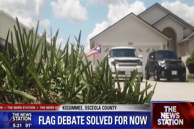 Central Florida HOA Tells US Army Veteran That She Can Keep Displaying Her Puerto Rican Flag… For Now (VIDEO)