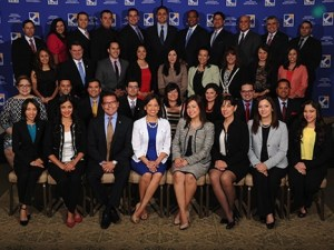Recipients of the Young Hispanic Corporate Achievers award. Photo courtesy of HACR.