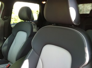 Elegant two-tone leather seats.