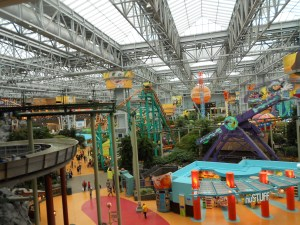 Nickelodeon Univers amusement park in the Mall of America.
