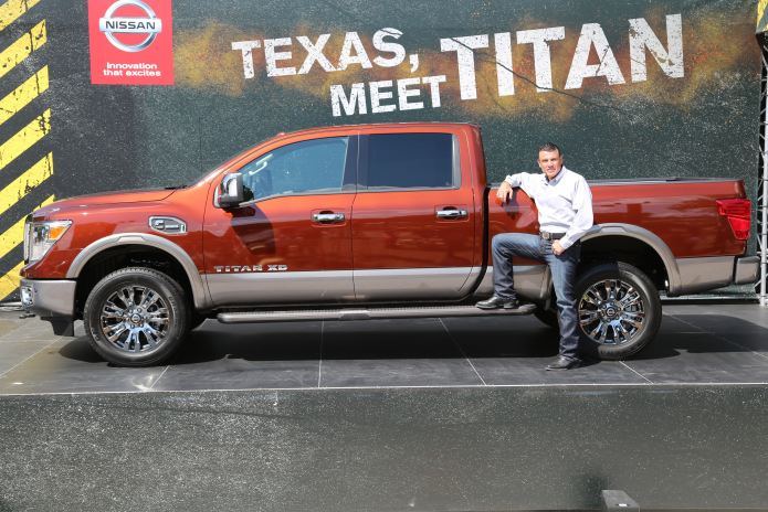 Pictured with the 2016 Nissan TITAN XD is Fred Diaz, senior vice president, Sales & Marketing and Operations, U.S.A.