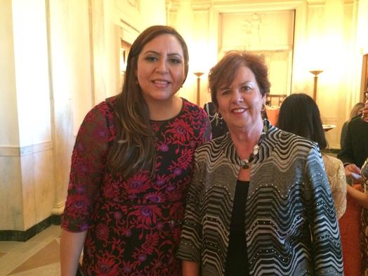 Alejandra Ceja, executive director of the White House Initiative on Educational Excellence for Hispanics and NCFL president and founder Sharon Darling in Washington D.C.