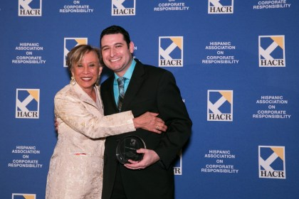 Tony Argote, Program Engineering Manager for Autonomous Technologies, was named a Young Hispanic Corporate Achiever at HACR's Young Hispanic Corporate Achievers Program in Washington, D.C.
