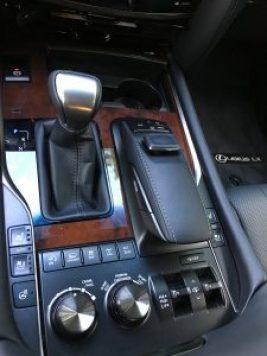 LX570 center console