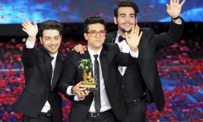 Il Volo comemora a vitória no Festival de Sanremo