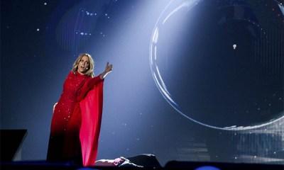 O primeiro ensaio de Edurne no palco do Eurovision