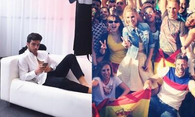 Edurne e Il Volo registraram cada momento de sua passagem no Eurovision pelo Instagram