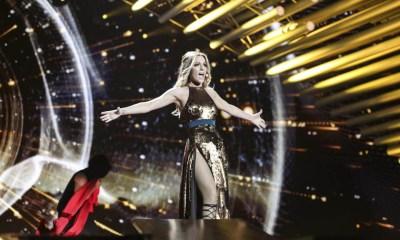 O segundo ensaio de Edurne no palco do Eurovision