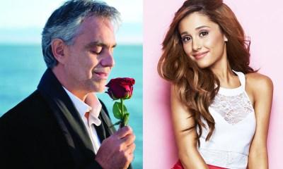 Andrea Bocelli grava dueto com Ariana Grande