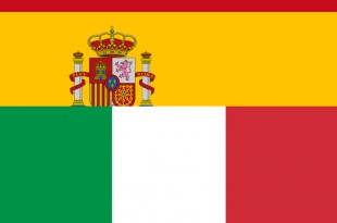 Bandeiras Espanha e Itália