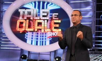 Carlo Conti apresenta o Tale e Quale Show, versão italiana do formato Tu Cara Me Suena / Your Face Sounds Familiar