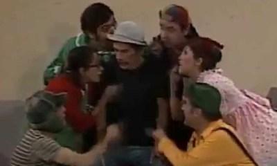 A turma do Chaves cantando Se Você É Jovem Ainda