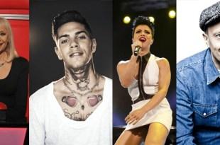 Raffaella Carrà, Emis Killa, Dolcenera e Max Pezzali formam o novo painel do The Voice of Italy