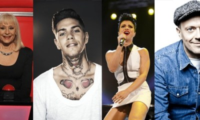 Raffaella Carrà, Emis Killa, Dolcenera e Max Pezzali formam o novo painel do The Voice of Italy