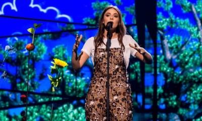 Francesca Michielin em seu primeiro ensaio no Eurovision 2016