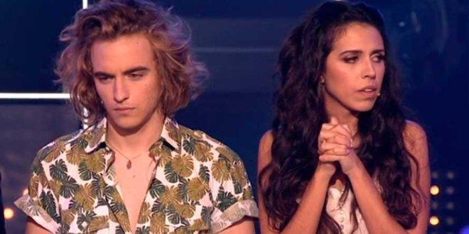 Mirela e Manel Navarro na final do Objetivo Eurovision