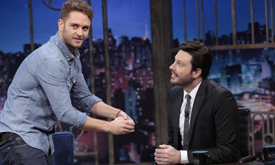 Christopher Uckermann esteve no SBT para entrevista no The Noite com Danilo Gentili