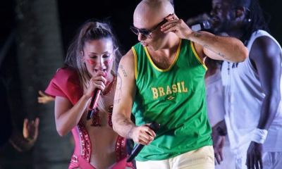 Pitbull veio ao Brasil divulgar o hit Carnaval