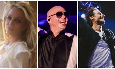 Pitbull, Britney Spears e Marc Anthony preparam hit do verão
