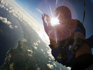Freefalling over Guam