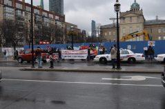 Protesto vegano em Toronto